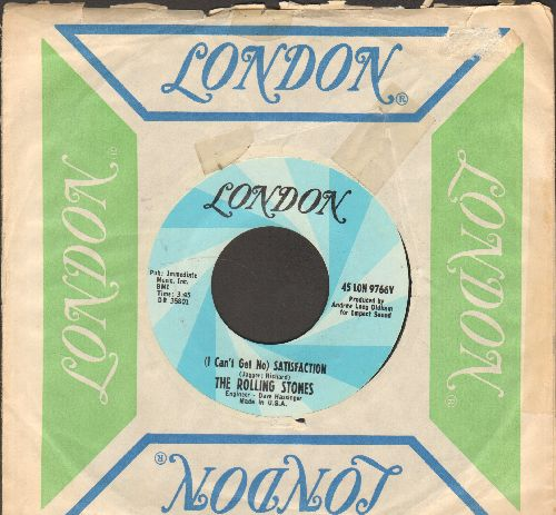 Rolling Stones - (I Can't Get No) Satisfaction/The Under Assistant West Coast Promotion Man (with vintage London company sleeve) - NM9/ - 45 rpm Records