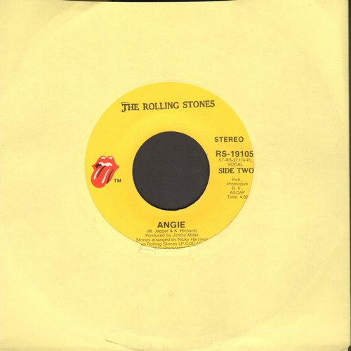 Rolling Stones - Angie/Silver Train - VG7/ - 45 rpm Records
