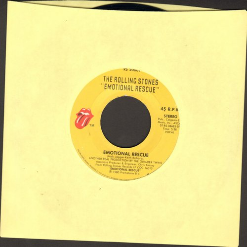 Rolling Stones - Emotional Rescue/Down In The Hole - EX8/ - 45 rpm Records