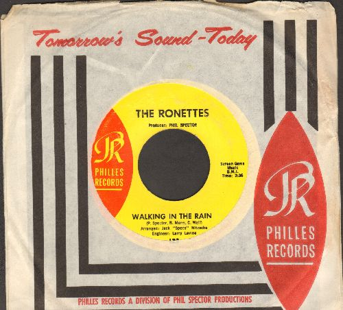 Ronettes - Walking In The Rain/How Does It Feel? (with RARE Philles company sleeve) - NM9/ - 45 rpm Records