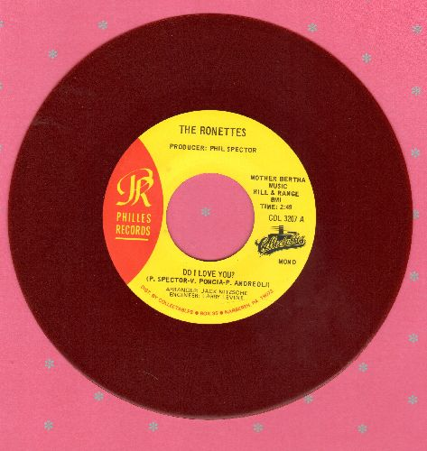 Ronettes - Do I Love You?/Chapel Of Love (RED VINYL double-hit re-issue) - NM9/ - 45 rpm Records