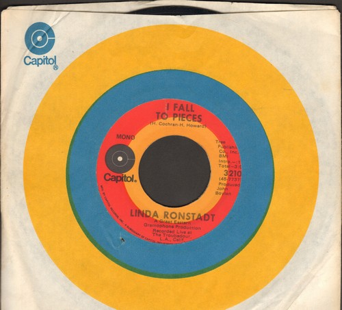 Ronstadt, Linda - I Fall To Pieces/Can It Be True (with Capitol company sleeve) - VG7/ - 45 rpm Records