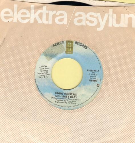 Ronstadt, Linda - Ooh Baby Baby/Blowing Away  - NM9/ - 45 rpm Records