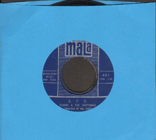 Ronny & The Daytonas - G.T.O./Hot Rod Baby - EX8/ - 45 rpm Records