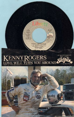 Rogers, Kenny - Love Will Turn You Around (Theme from film -Six Pack-)/I Want A Son (with picture sleeve) - NM9/EX8 - 45 rpm Records