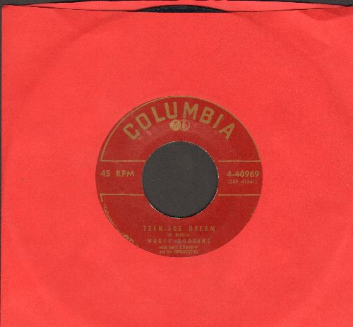 Robbins, Marty - Teen-Age Dream/Please Don't Blame Me (minor label blemish on B-side) - EX8/ - 45 rpm Records
