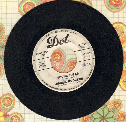 Rodgers, Jimmie - Young Ideas/Morning Means Tomorrow (DJ advance pressing) - VG7/ - 45 rpm Records