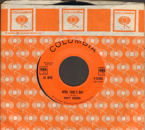 Robbins, Marty - April Fool's Day/Devil Woman (with vintage Columbia company sleeve) - EX8/ - 45 rpm Records