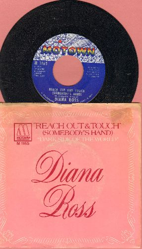 Ross, Diana - Reach Out And Touch (Somebody's Hand)/Dark Side Of The World (with picture sleeve) - NM9/VG7 - 45 rpm Records