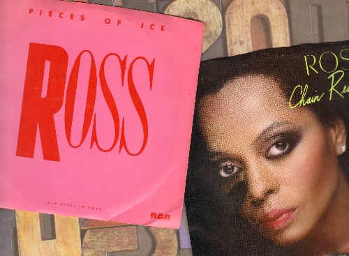 Ross, Diana - 2 for 1 Special: Pieces Of Ice/Chain reaction (2  first issue 45rpm records with picture sleeve for the price of 1!) - NM9/NM9 - 45 rpm Records