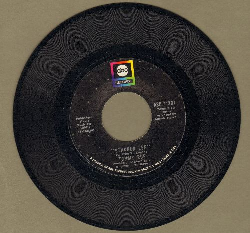 Roe, Tommy - Stagger Lee/Back Streets And Alleys - NM9/ - 45 rpm Records