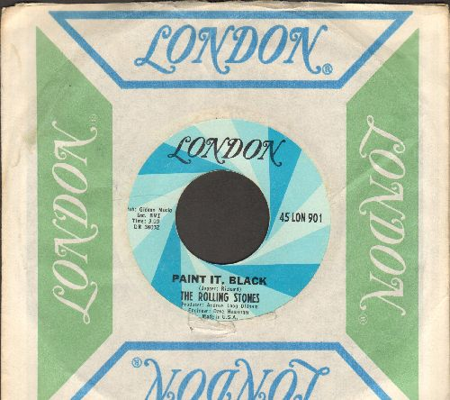 Rolling Stones - Paint It, Black/Stupid Girl (with vintage London company sleeve) - EX8/ - 45 rpm Records