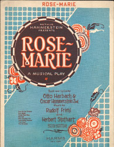 Rose-Marie - Rose-Marie - Vintage 1924 SHEET MUSIC for the popular Standard - EX8/ - 45 rpm Records