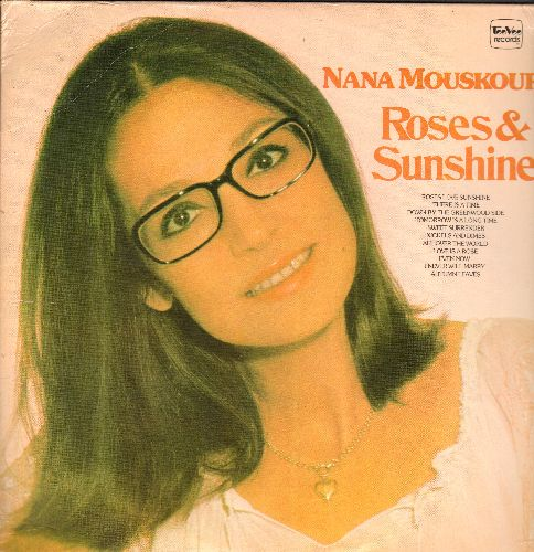 Mouskouri, Nana - Roses & Sunshine: Love Is A Rose, Even Now, Autumn Leaves, Sweet Surrender, Roses Love Sunshine (vinyl STEREO LP record, TEeVee Records pressing) - NM9/VG7 - LP Records