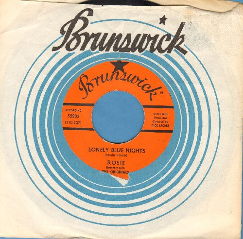 Rosie & The Originals - Lonely Blue Nights/We'll Have A Chance (with vintage Brunswick company sleeve) - EX8/ - 45 rpm Records