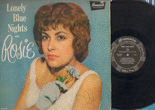 Rosie - Lonely Blue Nights With Rosie: Angel From Above, I Found A Dream, My Darling Forever (vinyl MONO LP record, RARE 1961 first pressing) - VG6/VG6 - LP Records
