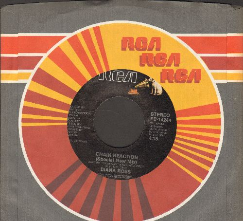 Ross, Diana - Chain Reaction/ (Special New Mix)/More And More (with RCA company sleeve) - M10/ - 45 rpm Records