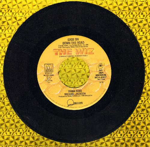 Ross, Diana & Michael Jackson - Ease On Down The Road/Puppy Girls (from film -The Wiz-) - NM9/ - 45 rpm Records
