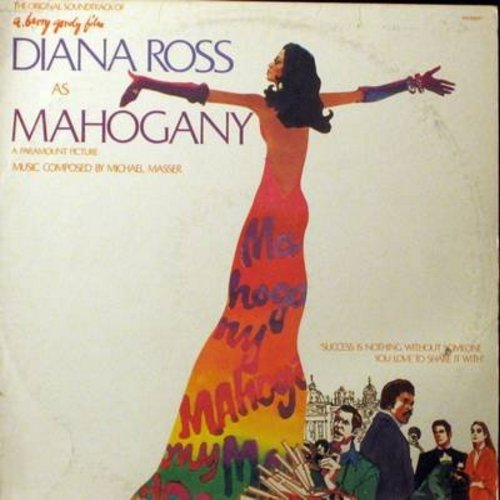 Ross, Diana - Mahogany - Original Motion Picture Sound Track: Includes The Hit Theme From Mahogany (Do You Know Where You're Going To) (vinyl STEREO LP record) - EX8/VG7 - LP Records