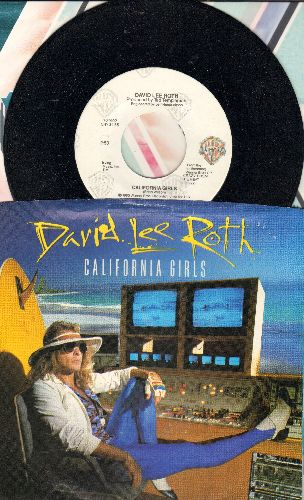 Roth, David Lee - California Girls (Remix Version)/California Girl (with picture sleeve) - NM9/EX8 - 45 rpm Records
