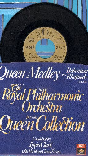 Royal Philharmonic Orchestra - Bohemian Rhapsody/Queen Medley (CLASSICAL treatment of legendary Queen Hits, with picture sleeve) - NM9/NM9 - 45 rpm Records