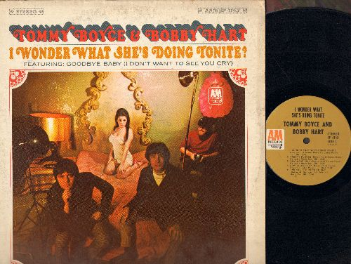 Boyce & Hart - I Wonder What She's Doing Tonite?: Goodbye Baby (I Don't Want To See You Cry), I Wanna Be Free, Teardrop City (vinyl STEREO LP record) - VG7/VG7 - LP Records