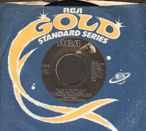 Reed, Jerry - (I'm Just A) Redneck In A Rock And Roll Bar/East Bound And Down (double-hit re-issue with RCA company sleeve) - NM9/ - 45 rpm Records