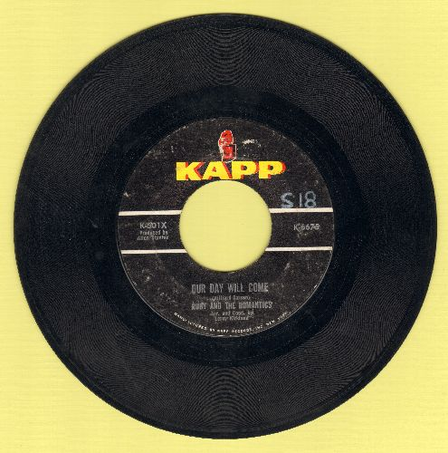 Ruby & The Romantics - Our Day Will Come/Moonlight And Music  - EX8/ - 45 rpm Records