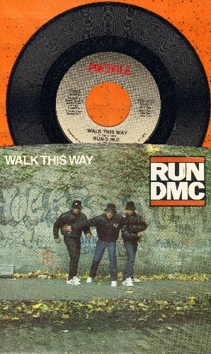 Run-D.M.C. - Walk This Way/King Of Rock (with picture sleeve) (soc) - NM9/EX8 - 45 rpm Records