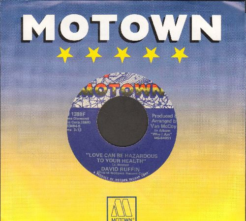 Ruffin, David - Love Can Be Hazardous To Your Health/Heavy Love (with Motown company sleeve) - EX8/ - 45 rpm Records