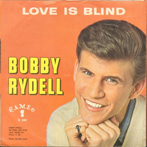 Rydell, Bobby - Butterfly Baby/Love Is Blind (with picture sleeve, writing on back of picture sleeve) - EX8/VG7 - 45 rpm Records