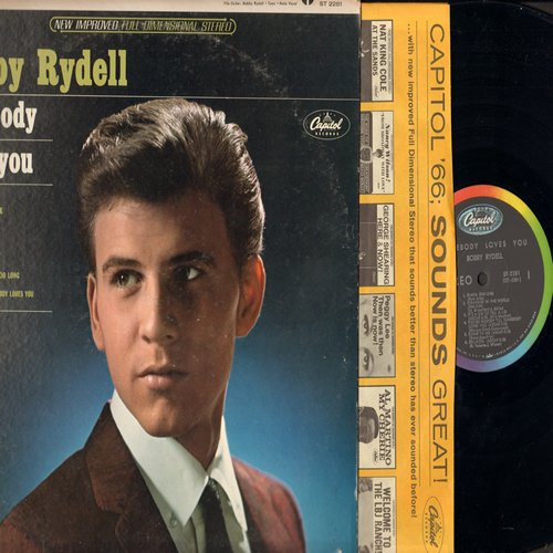 Rydell, Bobby - Somebody Loves You: Diana, You're Nobody Till Somebody Loves You, Theme Of Love, Time Out For Tears (vinyl STEREO LP record, front cover looks good, back has label blemish)  - EX8/G5 - LP Records