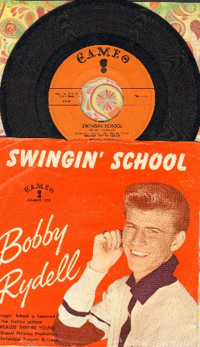 Rydell, Bobby - Swingin' School/Ding-A-Ling (with picture sleeve) - EX8/VG7 - 45 rpm Records