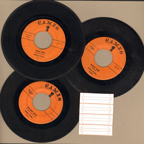 Rydell, Bobby - 3-Pack of vintage Bobby Rydell 45s includes hits Kissin' Time, We Got Love and Wild One. Shipped in plain white paper sleeves with 4 blank juke box labels. GREAT for a juke box! - VG7/ - 45 rpm Records