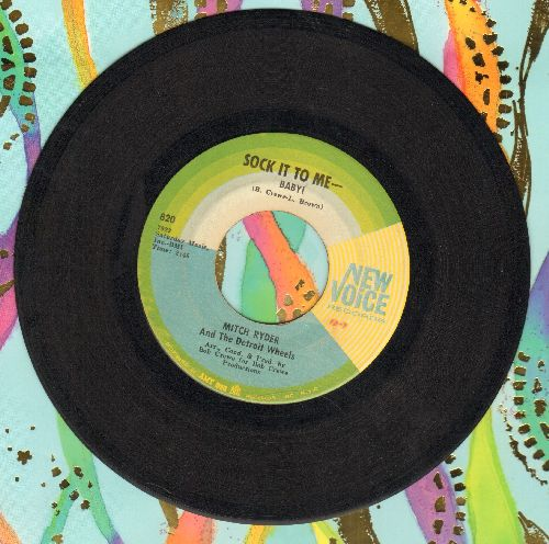 Ryder, Mitch & The Detroit Wheels - Sock It To Me - Baby!/I Never Had It Better (pastel colors label) - EX8/ - 45 rpm Records