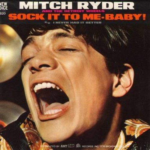 Ryder, Mitch & The Detroit Wheels - Sock It To Me - Baby!/I Never Had It Better (with picture sleeve) - NM9/VG7 - 45 rpm Records