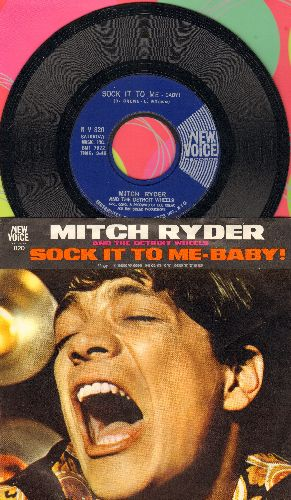 Ryder, Mitch & The Detroit Wheels - Sock It To Me - Baby!/I Never Had It Better (with picture sleeve) - M10/NM9 - 45 rpm Records