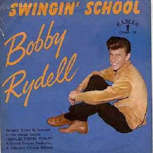 Rydell, Bobby - Swingin' School/Ding-A-Ling (with picture sleeve) - NM9/EX8 - 45 rpm Records