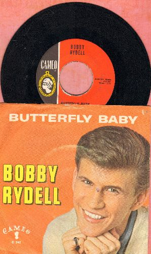 Rydell, Bobby - Butterfly Baby/Love Is Blind (with picture sleeve, writing on back of picture sleeve)(bb) - EX8/VG7 - 45 rpm Records