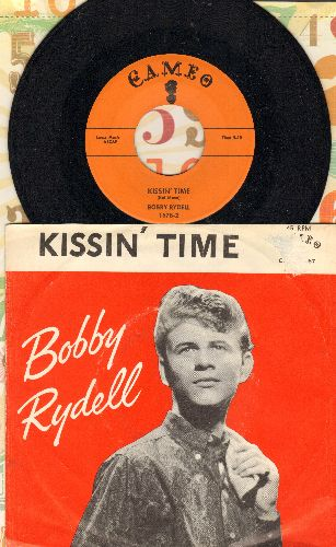 Rydell, Bobby - Kissin' Time/You'll Never Tame Me (with RARE picture sleeve) - NM9/EX8 - 45 rpm Records