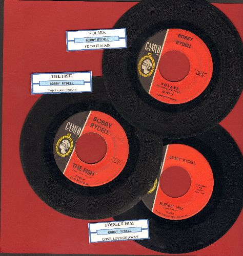 Rydell, Bobby - 3-Pack of first pressing 45s, includes hits Volare, The Fish and Forget Him. Shipped in plain white paper sleeves with juke box labels. - VG7/ - 45 rpm Records