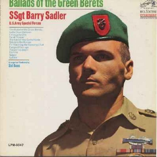 Sadler, SSgt Barry - Ballads Of The Green Berets: Letter From Vietnam, The Soldier Has Come Home, Salute To The Nurses, Saigon, Badge Of Courage (vinyl LP record) - NM9/EX8 - LP Records