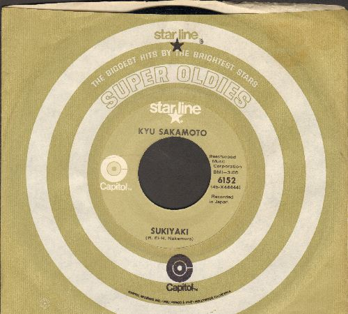 Sakamoto, Kyu - Sukiyaki/Tankobushi (FANTASTIC flip-side!) (MINT condition re-issue with Capitol company sleeve) - M10/ - 45 rpm Records
