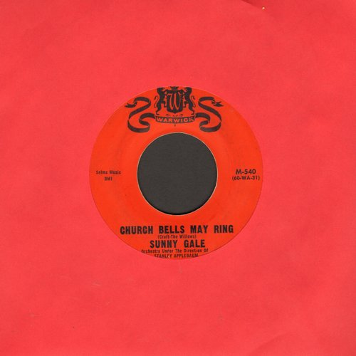 Gale, Sunny - Church Bells May Ring (Overlooked FANTASTIC Version of the Vintage Rock & Roll Classic!)/My Foolish Heart (with juke box label) - VG7/ - 45 rpm Records
