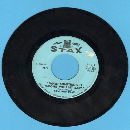 Sam & Dave - When Something Is Wrong With My Baby/Small Portion Of Your Love - VG7/ - 45 rpm Records