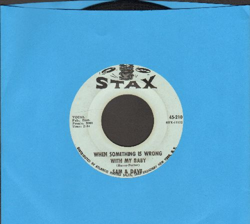 Sam & Dave - When Something Is Wrong With My Baby/Small Portion Of Your Love - EX8/ - 45 rpm Records