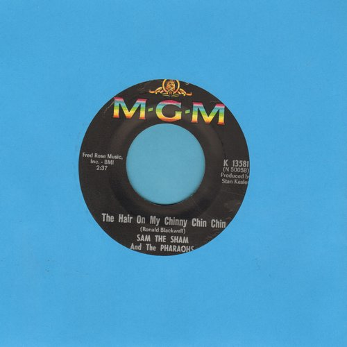 Sam The Sham & The Pharaohs - The Hair On My Chinny Chin Chin/(I'm In With) The Out Crowd (bb) - EX8/ - 45 rpm Records