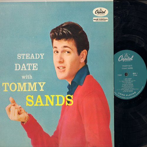 Sands, Tommy - Steady Date With Tommy Sands: Goin' Steady, Too Young, Ring My Phone (vinyl MONO LP record, turquoise label first issue, NICE condition!) - NM9/NM9 - LP Records