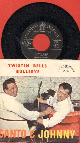 Santo & Johnny - Twistin' Bells/Bullseye (with picture sleeve) - NM9/EX8 - 45 rpm Records