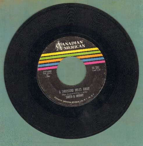 Santo & Johnny - A Thousand Miles Away/Road Block - VG7/ - 45 rpm Records